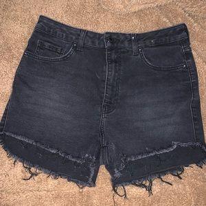3/$30!! Black denim high waisted shorts